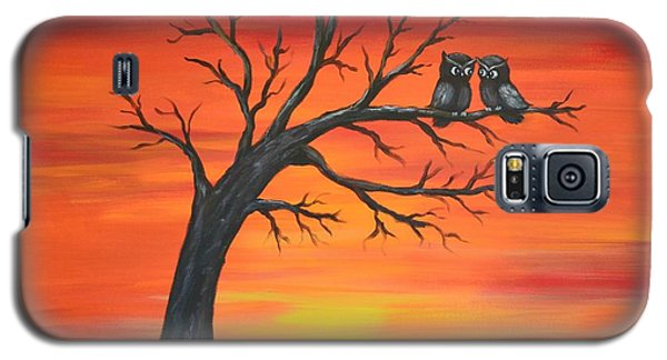 Galaxy S5 Case featuring the painting Owl Tell You Something by Agata Lindquist