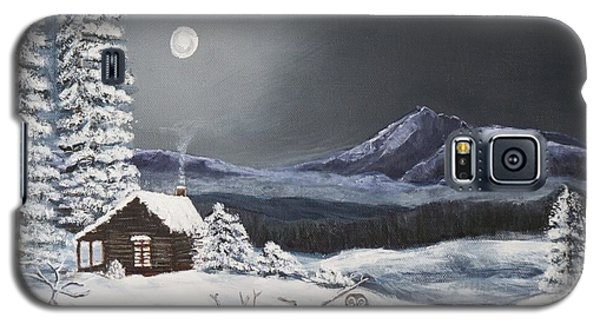 Owl Watch On A Cold Winter's Night Original  Galaxy S5 Case by Kimberlee Baxter