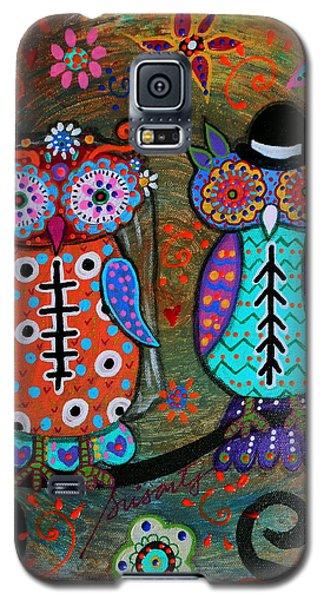 Owl Wedding Dia De Los Muertos Galaxy S5 Case by Pristine Cartera Turkus