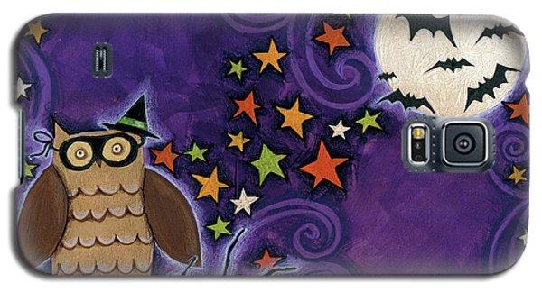 Owl With Mask Galaxy S5 Case by Anne Tavoletti
