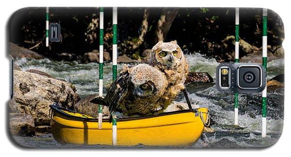 Owlets In A Canoe Galaxy S5 Case