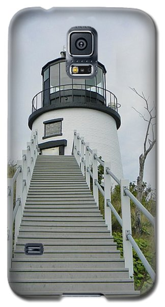 Galaxy S5 Case featuring the photograph Owls Head Lighthouse by Jean Goodwin Brooks