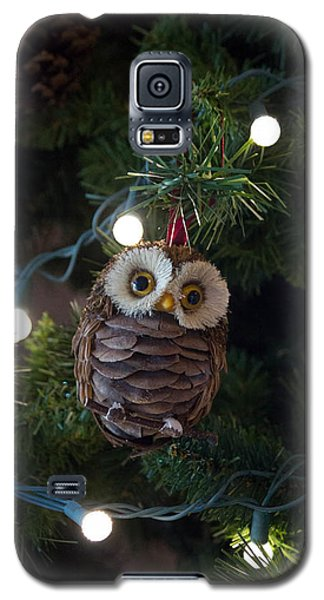Owly Christmas Galaxy S5 Case by Patricia Babbitt