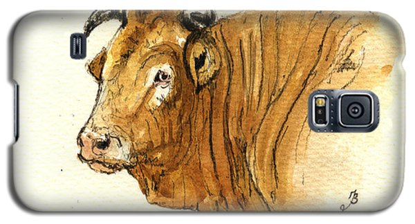 Bull Galaxy S5 Case - Ox Head Painting Study by Juan  Bosco