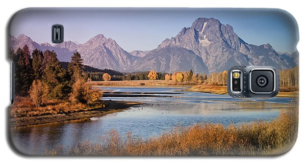 Galaxy S5 Case featuring the photograph Oxbow Bend by Janis Knight