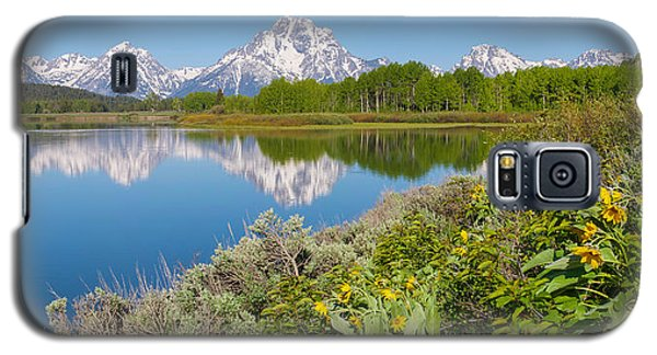 Galaxy S5 Case featuring the photograph Oxbow Bend Wildflowers In Spring by Aaron Spong
