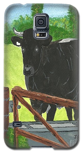 Galaxy S5 Case featuring the painting Oxleaze Bull by John Williams