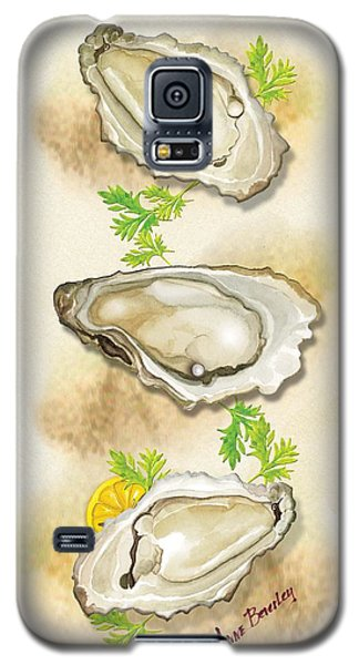 Galaxy S5 Case featuring the painting Oysters Three by Anne Beverley-Stamps