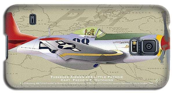 Galaxy S5 Case featuring the drawing P-51  by Kenneth De Tore