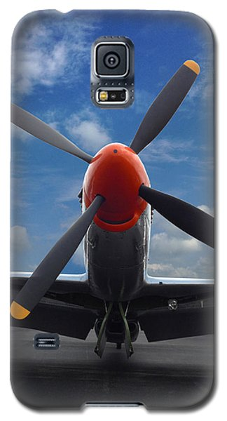 Galaxy S5 Case featuring the photograph P-51 Ready For Flight by Rod Seel