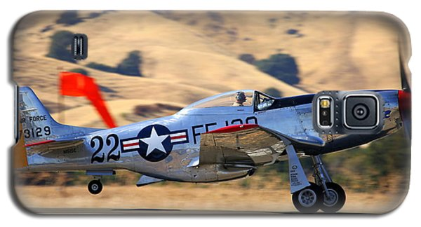 P51 Merlin's Magic On Take-off Roll Galaxy S5 Case