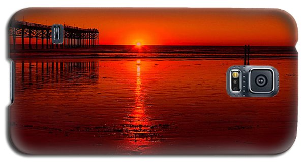 Pacific Beach Sunset Galaxy S5 Case by Tammy Espino
