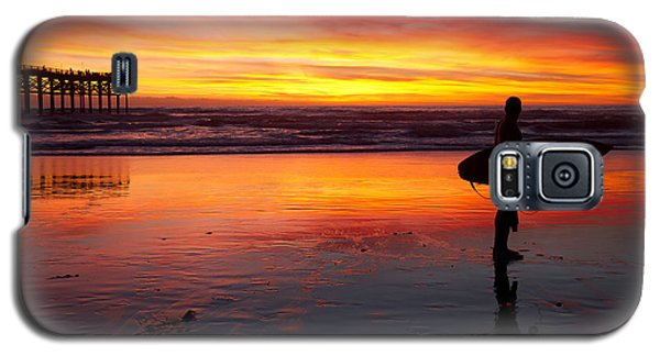 Pacific Beach Was On Fire Tonight Galaxy S5 Case by Nathan Rupert