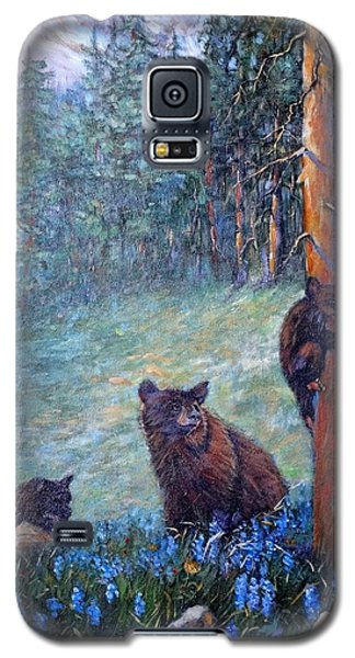Galaxy S5 Case featuring the painting Spring In The Cascades by Charles Munn