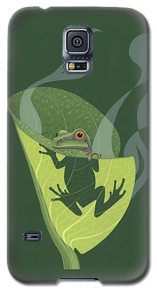 Pacific Tree Frog In Skunk Cabbage Galaxy S5 Case by Nathan Marcy
