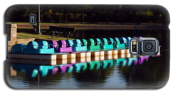 Galaxy S5 Case featuring the digital art Paddle Boats by Kelvin Booker