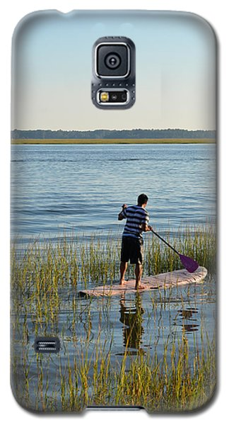 Galaxy S5 Case featuring the photograph Paddleboarder by Margaret Palmer