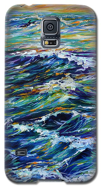 Paddling Out At Sunset Galaxy S5 Case