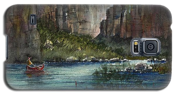 Galaxy S5 Case featuring the painting Paddling Reagan Canyon by Tim Oliver
