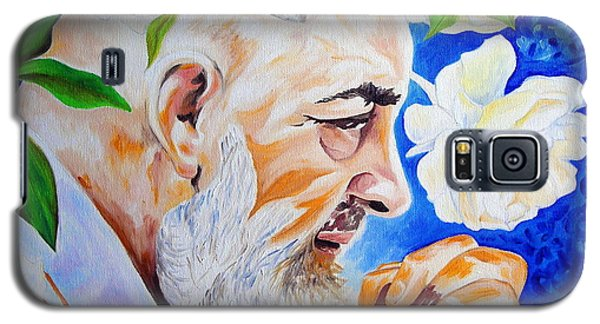 Galaxy S5 Case featuring the painting Padre Pio by Ze  Di