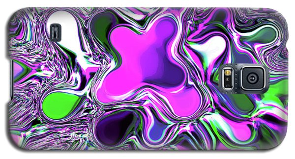 Paint Ball Color Explosion Purple Galaxy S5 Case