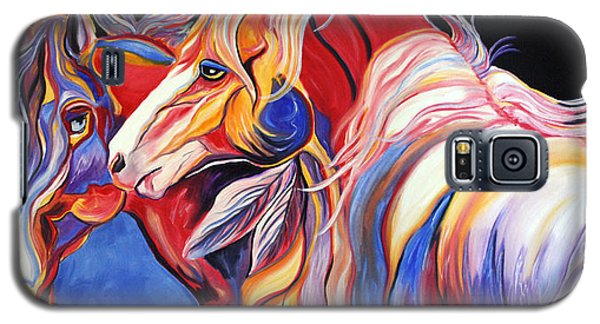 Galaxy S5 Case featuring the painting Paint Horse Colorful Spirits by Jennifer Godshalk