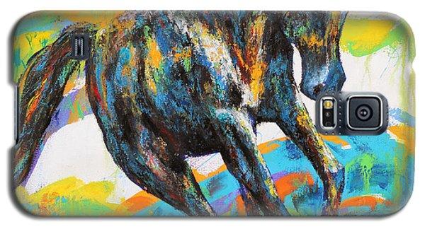 Galaxy S5 Case featuring the painting Paint Horse by Jennifer Godshalk