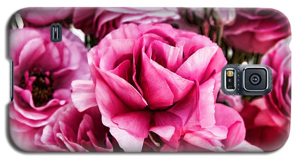 Paint Me Pink Ranunculus Flowers By Diana Sainz Galaxy S5 Case