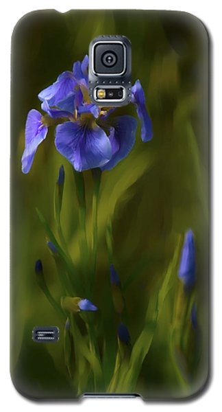 Painted Alaskan Wild Irises Galaxy S5 Case