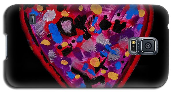 Galaxy S5 Case featuring the painting Painted Heart 2 by Christine Perry