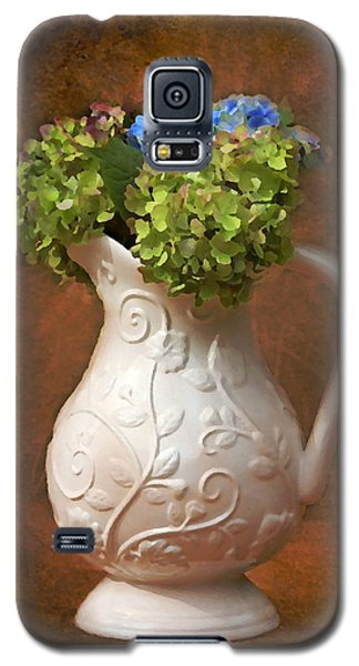 Painted Hydrangeas Galaxy S5 Case by Trina  Ansel