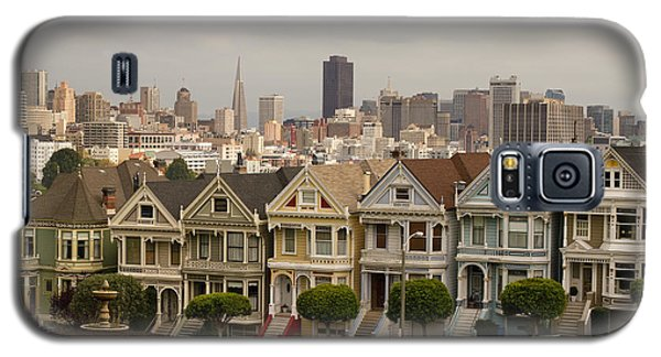 Painted Ladies Row Houses And San Francisco Skyline Galaxy S5 Case
