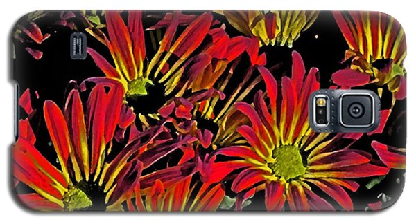 Galaxy S5 Case featuring the photograph Painted Mums by Judy Wolinsky