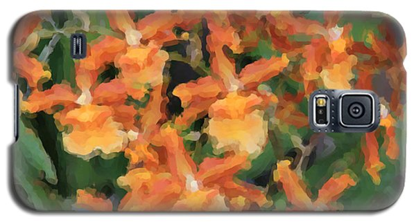 Painted Orchids Galaxy S5 Case by Rosalie Scanlon