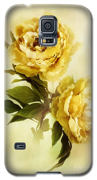 Painted Peonies Galaxy S5 Case