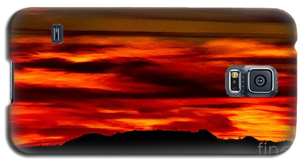 Galaxy S5 Case featuring the photograph Painted Sky 34 by Mark Myhaver