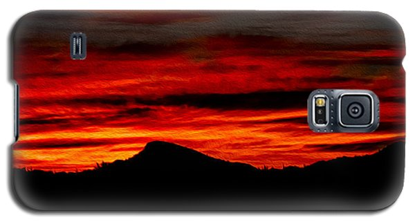 Galaxy S5 Case featuring the photograph Painted Sky 45 by Mark Myhaver