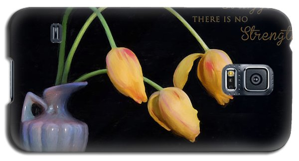 Painted Tulips With Message Galaxy S5 Case