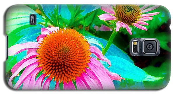 Painterly Coneflowers Galaxy S5 Case by Annie Zeno
