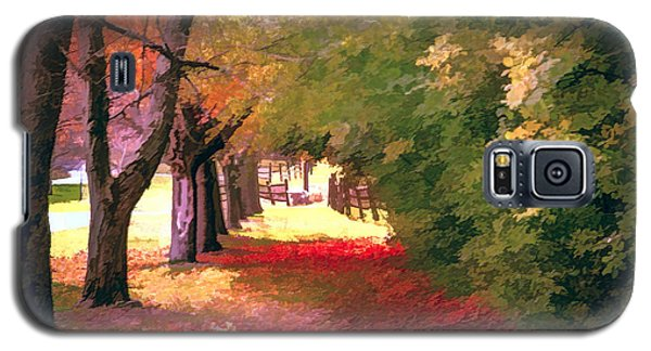Galaxy S5 Case featuring the photograph Painterly Forest Trail by Jim Lepard