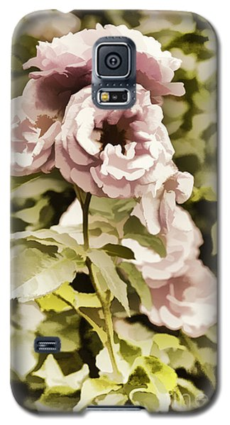 Painting Of A Live Pink Rose Flower In Color 3225.02 Galaxy S5 Case