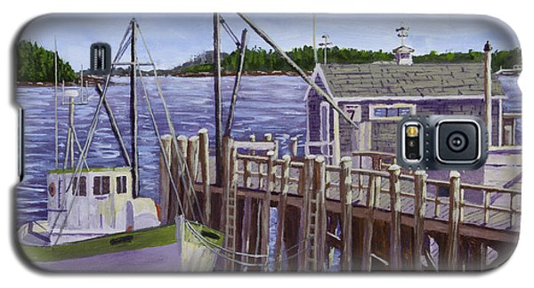 Fishing Boat Docked In Boothbay Harbor Maine Galaxy S5 Case by Keith Webber Jr