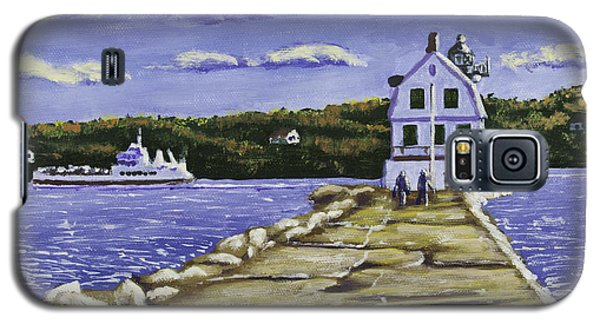 Rockland Breakwater Lighthouse In Maine Galaxy S5 Case