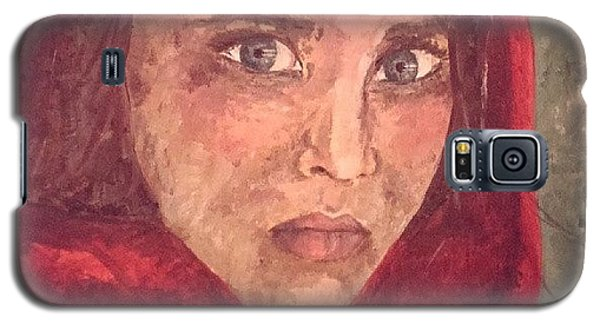 Magazine Cover Galaxy S5 Case - Painting Of Sharbat Gula #painting by Rowan Elisa