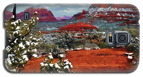 Painting Secret Mountain Wilderness Sedona Arizona Galaxy S5 Case