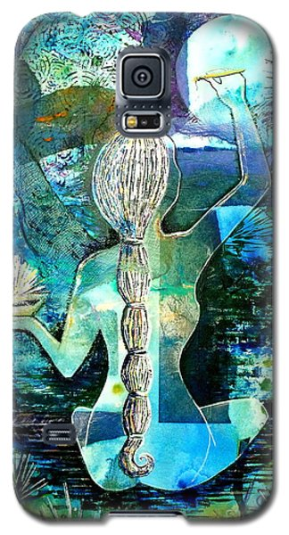 Painting The Moon Galaxy S5 Case by Julie  Hoyle