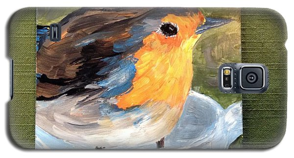 Galaxy S5 Case featuring the painting Pajarito  by Reina Resto