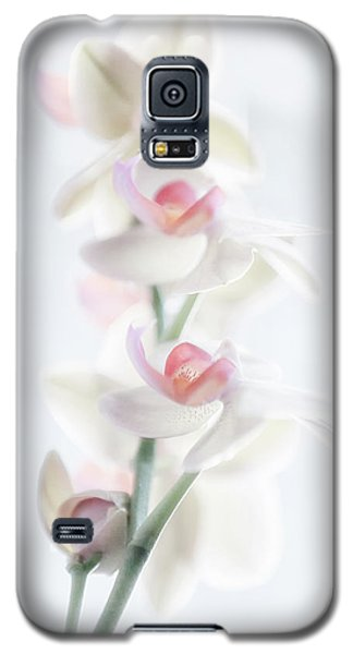 Orchid Galaxy S5 Case - Pale Beauty by Peter Pfeiffer