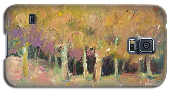 Galaxy S5 Case featuring the painting Pale Forest by Michelle Abrams