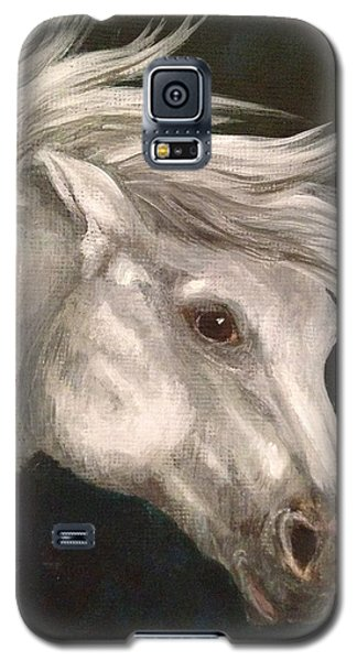 Pale Grey Horse Galaxy S5 Case